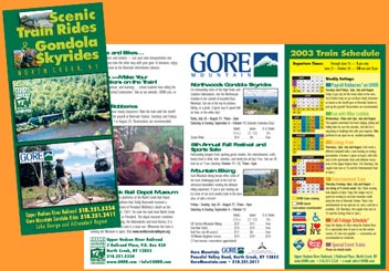 Train Rides and Gondola Skyrides Brochure