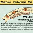 Big Trout Radio web site design thumbnail